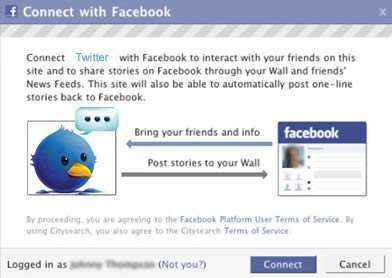 twitter y facebook connect