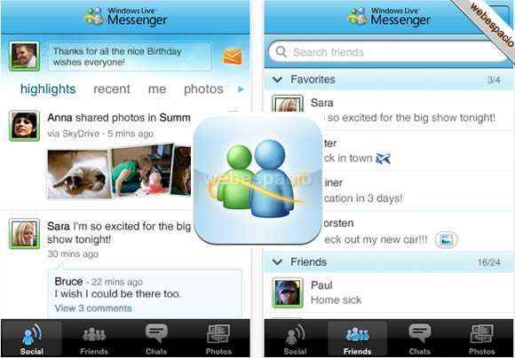 windows live messenger para iphone