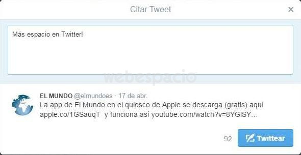 tuit twitter caracteres